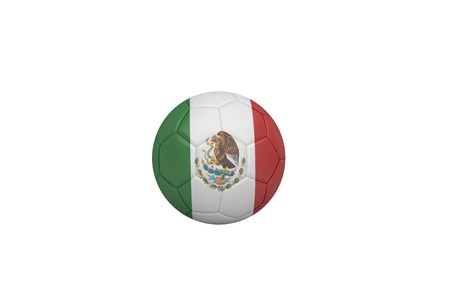 Football in mexico colours on white background photo