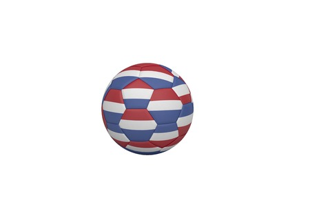 Football in holland colours on white background photo
