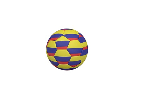 Football in colombia colours on white background photo