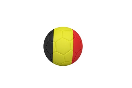 Football in germany colours on white background photo