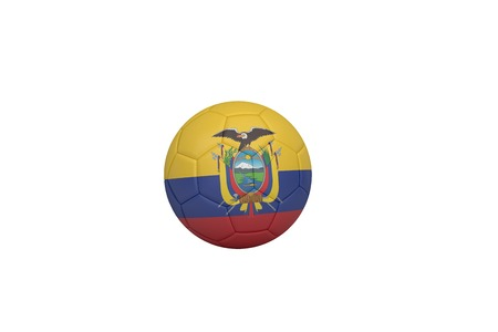 Football in ecuador colours on white background photo