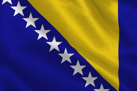 bosnian: Digitally generated bosnian flag rippling Stock Photo