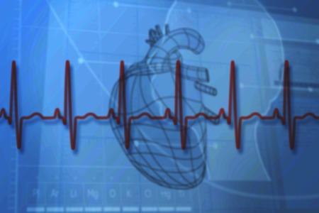 Fondo Azul Médica Generada Digitalmente Con El Diagrama De Corazón Y ...