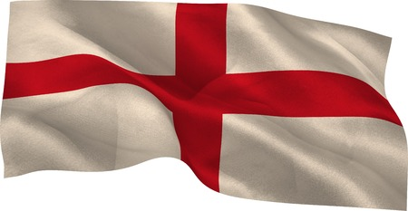 england flag: Digitale generato bandiera nazionale england su sfondo bianco Archivio Fotografico