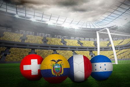 Fussball In Brasilien Farben Gegen Fussballfeld In Grossen