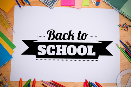 parer: Back to school message against students desk