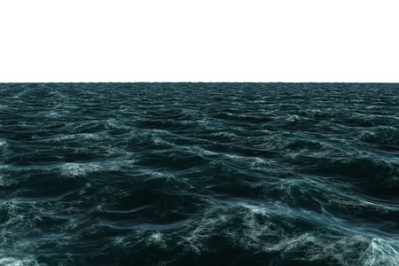 rough sea: Digitally generated Rough sea on white background Stock Photo