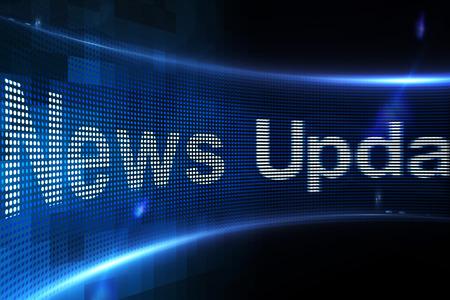 news update: Digitally generated News update on digital screen