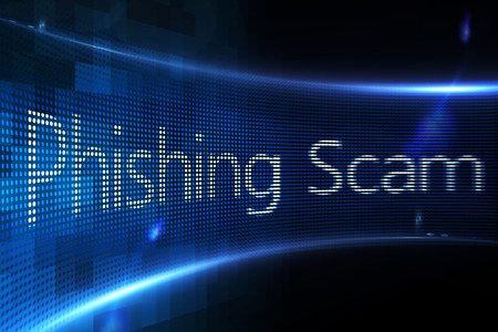 phishing: Digitally generated Phishing scam on digital screen