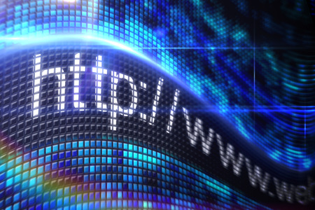 Digitally generated Http address on digital screen