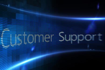 digitally  generated: Digitally generated Customer support on digital screen
