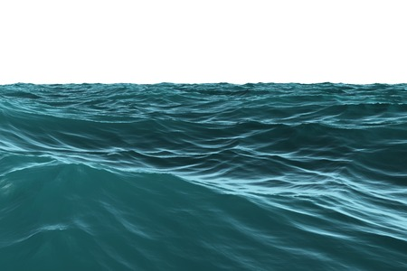 rough sea: Digitally generated Blue rough sea on white background Stock Photo