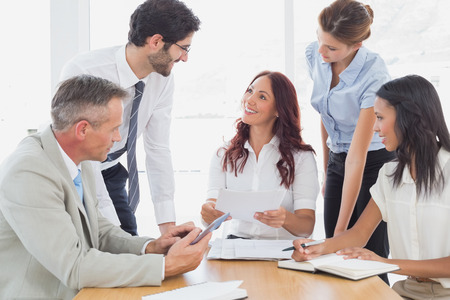 Business team in a meeting at work photo