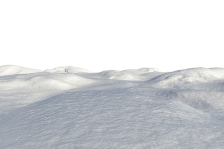 unknown age: Digitally generated white snowy landscape on white background