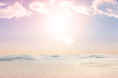 land scape: Digitally generated snowy land scape with copy space