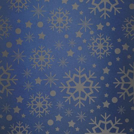 vignette: Snowflake pattern against blue vignette Stock Photo