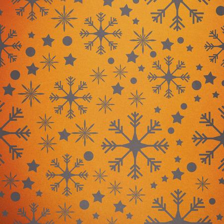 vignette: Snowflake pattern against yellow vignette Stock Photo