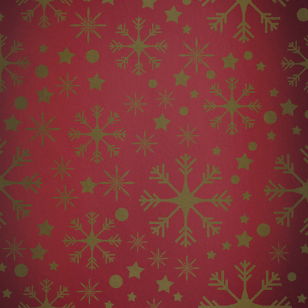 vignette: Snowflake pattern against red vignette