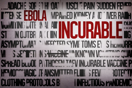 incurable: Digitally generated ebola word cluster with bold text Stock Photo