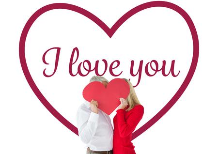 recibo: Pares que abrazan y la celebración de corazón sobre caras contra san valentin corazones de amor