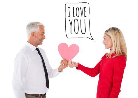 recibo: Hombre hermoso que consigue una esposa formato de tarjeta coraz�n contra te amo