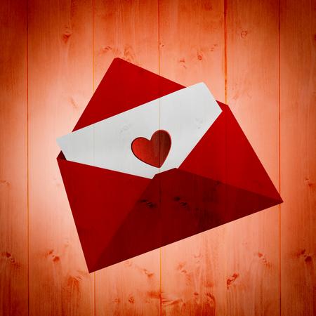 love letter: Love letter against orange