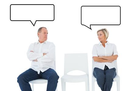 not talking: Sconvolto coppia non parlano tra di loro dopo la lotta contro la nuvoletta