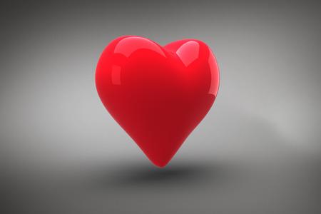 vignette: Red heart against grey vignette