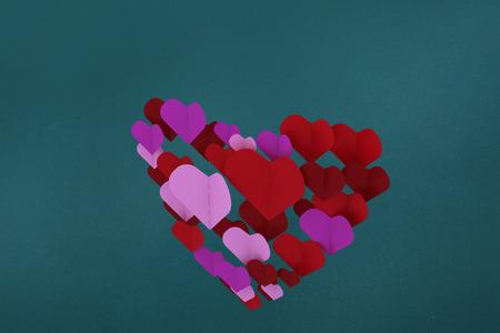 corazones de amor: Amor corazones contra cerceta