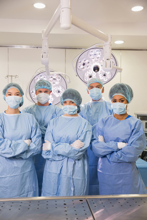 medical students: Medical students in operating theater at the university Stock Photo