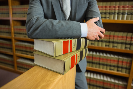 Lawyer standing in the law library at the university