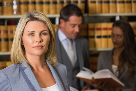 law library: Lawyers in the law library at the university Stock Photo