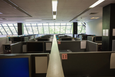 units: Empty office with separate units at the university