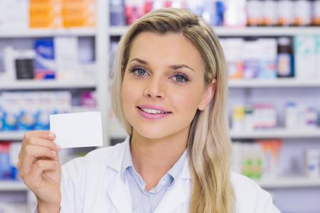 medicine box: Pharmacist showing medicine box at the hospital pharmacy
