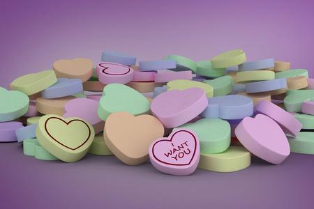 vignette: Heart against purple vignette