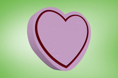 vignette: Heart against green vignette
