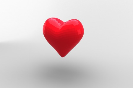 digitally: Digitally generated Red heart Stock Photo