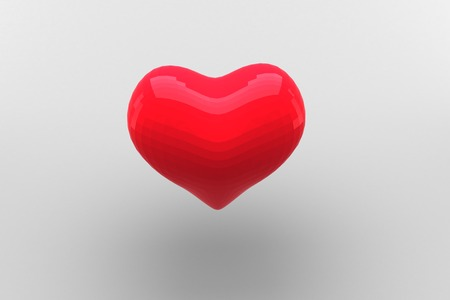 digitally generated: Digitally generated Red heart Stock Photo