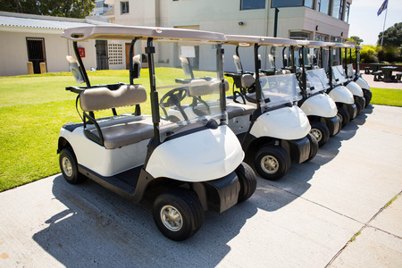 pursuits: Golf buggy at the golf course parking