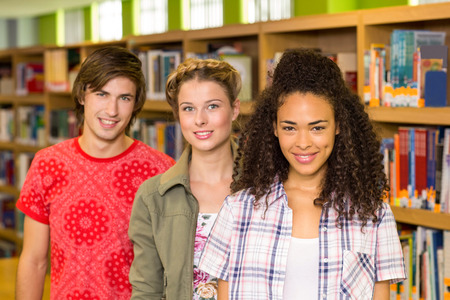 higher intelligence: Portrait of college students in the library