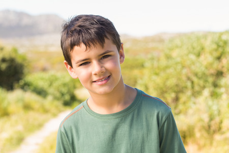 adventuring: Little boy in the countryside on a sunny day
