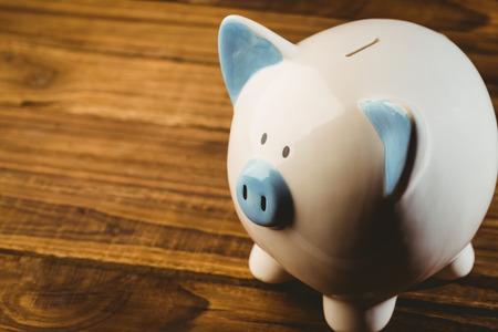 cuenta bancaria: Azul y blanco foto de la hucha en el estudio