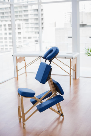 Massage chair in medical office Stock Photo