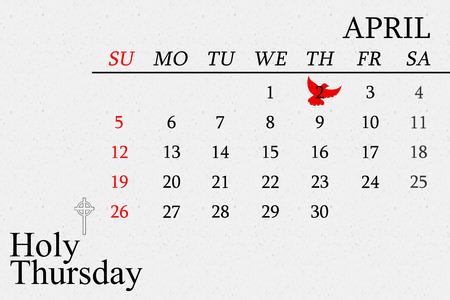 holy thursday: Dove of peace against grey