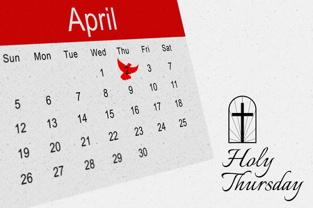 holy thursday: Dove of peace against grey
