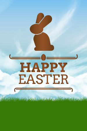 confectionary: happy easter graphic against blue sky
