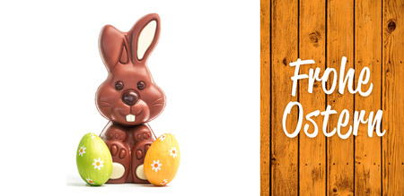 frohe: Frohe ostern against wooden planks