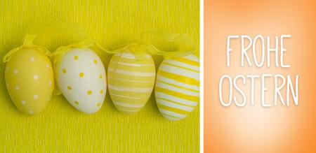 Ostern: Frohe ostern against orange vignette