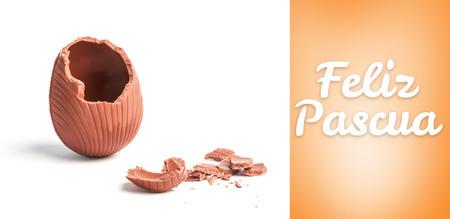 vignette: Feliz pascua against orange vignette