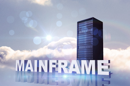mainframe: mainframe against bright blue sky with cloud Stock Photo